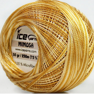 AURIC CREAM – Gold Cream Mimosa Variegated Thread